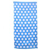 24 Units of Polka Dot Beach Towels - Light Blue - Beach Towels