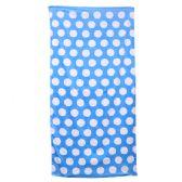 24 Units of Polka Dot Beach Towels - Light Blue