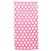 24 Units of Polka Dot Beach Towels - Pink - Beach Towels
