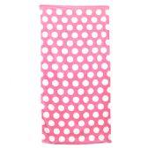 24 Units of Polka Dot Beach Towels - Pink