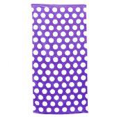 24 Units of Polka Dot Beach Towels - Purple