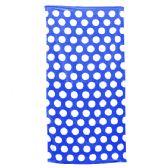 24 Units of Polka Dot Beach Towels - Royal