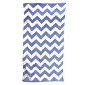 24 Units of Chevron Beach Towel, Navy - Beach Towels