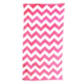 24 Units of Chevron Beach Towel, Pink - Beach Towels
