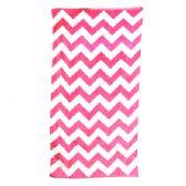 24 Units of Chevron Beach Towel, Pink
