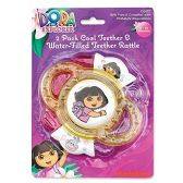 72 Units of Dora The Explorer Teeth Rattle - Baby Toys