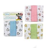 72 Units of Disney Terry Washcloth- 3 Pack - Baby Accessories