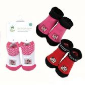 72 Units of Mickey & Minnie Baby Booties - Baby Apparel