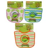 72 Units of Nickelodeon's Ninja Mutant Terry Bib - Baby Apparel