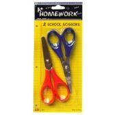 "48 Units of 2 Pack 5"" Kid School Scissors Blunt Tip - Scissors"