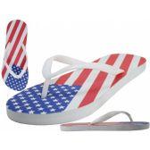 Wholesale 48 Units of Men US Flag Flip Flops
