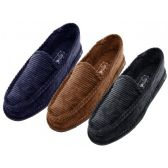 24 Units of Men Corduroy House Shoes - Men's Slippers
