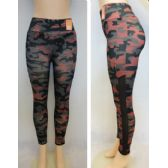 24 Units of Ladies Active Fitness Leggings [Camo] - Womens Active Wear