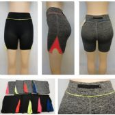 24 Units of Ladies Active Fitness Shorts [Zippered Pocket] - Womens Active Wear