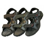24 Units of Wholesale Boys' Velcro Strap Sandals - Boys Flip Flops & Sandals