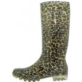 12 Units of Women's Leopard Printed Rain Boots