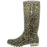 12 Units of Women's Leopard Printed Rain Boots - Womens Boots