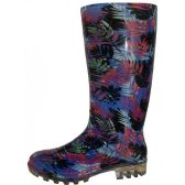 12 Units of Women's Blue Dot Print Rain Boots