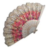 360 Units of FLORAL AND GLITTER LADY FAN