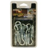 72 Units of 8PC 5X37MM SCREW HOOK WITH ANCHOR - Drills and Bits