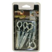 72 Units of 5PC 6X52MM SCREW HOOK WITH ANCHOR - Drills and Bits