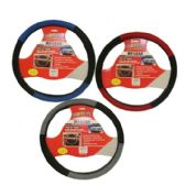 96 Units of STEERING WHEEL COVER ASST COLOR - Auto Steering Wheel Covers