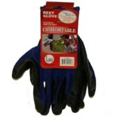 120 Units of BLUE POLY W BLACKNITRILE COAT GLOVES L - Working Gloves