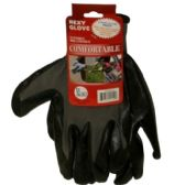 120 Units of GRAY POLY W BLACKNITRILE COAT GLOVES XL - Working Gloves