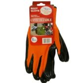 120 Units of ORANGE BLACK ZEBRA POLY NITRILE COAT M - Working Gloves