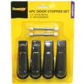96 Units of 6PC DOOR STOPPER SET ASSORTED STYLES - Doors