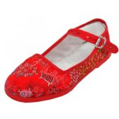 36 Units of Girls' Brocade Mary Janes ( Red Color Only) - Toddler Footwear