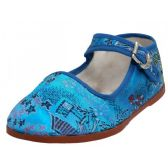 36 Units of Toddlers' Brocade Mary Janes ( Turquoise Color Only) - Toddler Footwear