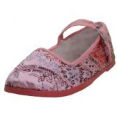 36 Units of Toddlers' Brocade Mary Janes ( Pink Color Only) - Toddler Footwear