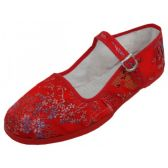 36 Units of Women's Brocade Mary Jane Shoes ( Red Color Only) - Womens Shoes/ Flats