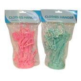 72 Units of 16 PEG UMBRELLA CLOTHES HANGER - Clothes Pins