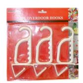 96 Units of 3PC OVER DOOR HOOKS - Hooks