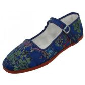 36 Units of Women's Brocade Mary Jane Shoes ( Navy Color Only) - Womens Shoes/ Flats