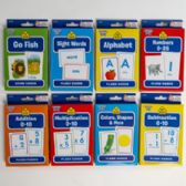 96 Units of Flash Cards School Zone 8 Assorted In Pdq - Educational Toys