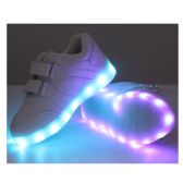 18 Units of LED SHOES KIDS MIX SIZE ( 18 PAIRS ) WHITE - Unisex Footwear