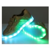 18 Units of LED SHOES KIDS MIX SIZE ( 18 PAIRS ) GOLD ONLY - Unisex Footwear