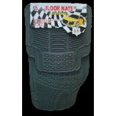 6 Units of 4PC HEAVY RUBBER CAR FLOOR MAT SET IN GRAY