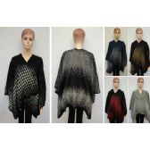 24 Units of Woven Shawl Assorted Houndstooth colors.
