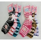 60 Units of Womens Fashion Warm Super Soft Fuzzy Socks