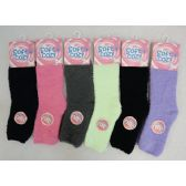 72 Units of Soft & Cozy Fuzzy Socks [Solid Color] Assorted Colors - Womens Fuzzy Socks