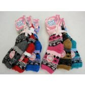 72 Units of Soft & Cozy Fuzzy Socks [Snowflakes] Assorted Colors - Womens Ankle Sock