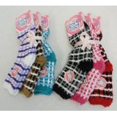 60 Units of Womens Super Soft Fuzzy Socks Size 9-11