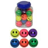 288 Units of HAPPY FACE COLOR BOUNCING BALL 1.77 - Balls