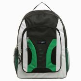20 Units of 16.5 inch Mid-Size Cool Backpack For Kids, Bulk Case of Green