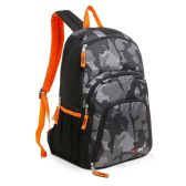 Wholesale 24 Units of 18 inch Gray Urban Camouflage School Backpacks in Bulk