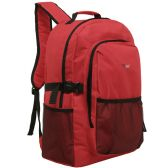 20 Units of MGgear 19 inch Oversized Wholesale College Backpacks, Red